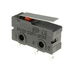 5 x kurz Hebel Stellmotor Mikroschalter SPDT 5A Mikroschalter