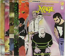 Comico Comics Mage lot of 7 books.  Issues 8, 10-15
