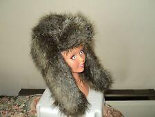 PRIMARK FAUX FUR RUSSIAN STYLE TRAPPER COSSACK ESKIMO HAT size M!