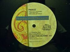 """PROMO PRINCE IF I WAS YOUR GIRLFRIEND 12"""" SINGLE LP PAISLEY PARK RECORDS 2758"""