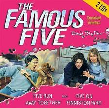 FIVE RUN AWAY TOGETHER & FIVE ON FINNISTON FARM by Enid Blyton (CD-Audio, 2006)