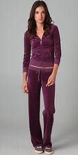 """NWT $118 Juicy Couture Purple """"Treasure Hunt"""" Womens Zip Velour Hoodie-XS"""