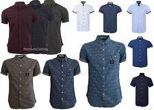 Crosshatch &Firetrap Smart Casual SHIRT Cotton Blend Short Sleeve Summer T Shirt