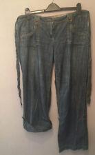 Next Sz 16 Slouch Boyfriend Jeans Adjustable Cropped