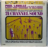 Paul Lavalle & Band of America 21 Channel Sound March Broadway LP NM Vinyl Mono