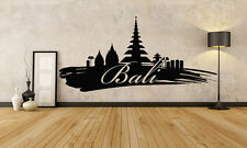 Wall Vinyl Sticker Decal Skyline Horizon Panorama City Bali Indonesia F1789