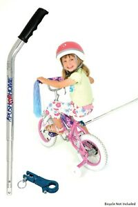 Push me Home Parent assistance push handle for kids bike with training wheels