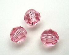 24 pieces Swarovski Element 5000 faceted 4mm Round Ball Beads Crystal Light Rose