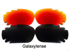 Galaxy Replacement Lenses For Oakley Racing Jacket Black&Red Polarized 2Pairs