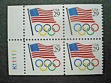 US block 2528 MNH OG  Olympic Rings