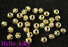300Pcs  Antiqued gold pltcarved lantern spacer bead A262