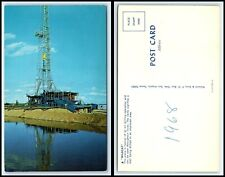 "TEXAS Postcard - Oil Drilling Operation, Oil Rig ""Wildcat"" H3"