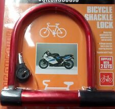D-ShapeHeavy Duty Bicycle, Cycle Shackle Lock with 2Keys