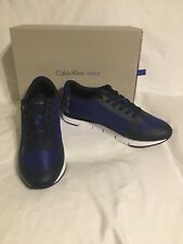 Calvin Klein JABRE MESH/HF Blue Silver Trainer Shoes S1658 Uk 9 Eu 43 Us 10 BNIB