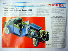 CATALOGUE MAQUETTE / VITRINE - POCHER - ROLLS ROYCE PHANTOM II 1932