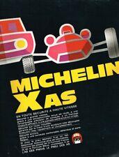 D- Publicité Advertising 1969 Les pneus michelin Xas