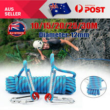10-30M 12mm Static Rescue Rope Rock Climbing Rappelling Safety Cord Slings