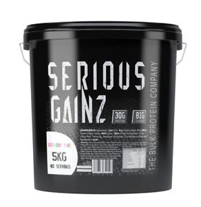 Serious Gainz 5kg - Serious Mutant Mass Gainer Protein Powder - NEW FLAVOURS!!!