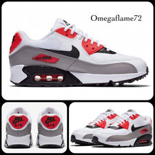 Nike Air Max 90, 325213-132, UK 8, EU 42.5, US 10.5, White, Black, Solar Red