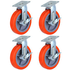 4 Pack 200mm Swivel Casters Polyurethane Wheel Scaffold Furniture Construction
