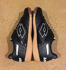 Lotto Stadio Potenza IV Size 8 Men's Black White Athletic Indoor Soccer Shoes
