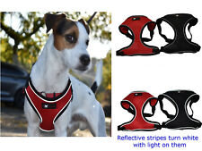 Pet safety reflective travel strap vest dog high visibility soft mesh harness
