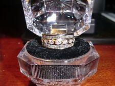 UNUSUAL 14K GOLD DIAMOND HEAVY COCKTAIL RING WHITE/YELLOW