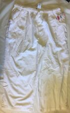 Laura Scott Missy White 100% Cotton Pull-On Capri Size M Sheeting Crops