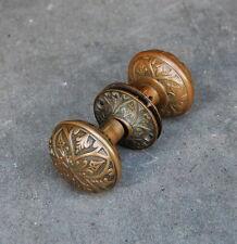 Antique Cast Brass Norwalk Lock  Doorknob Set  Escutcheon Plates, Door Hardware