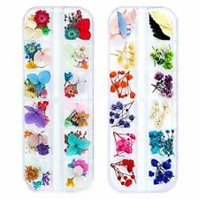 108 Pcs Dried Flowers for Resin Nail Art, 62 Colors 3D Small Tiny Dried Flowers