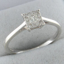 9Carat Engagement White Gold Fine Rings without Stones