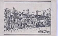 The Monastery Prinknash Gloucester unused Pen & Ink sketch postcard