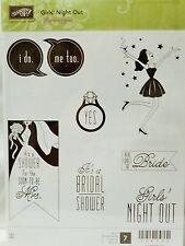 Stampin Up GIRLS NIGHT OUT clear mount stamps NEW ring Bridal shower Mrs. bride