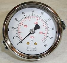 New Noshok Pressure Gauge 25.120 0-100 Psi