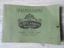 Antique 1914 The McCaskey System Dominion Register Instruction Booklet