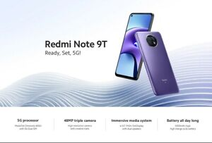 Xiaomi Redmi Note 9T 64GB+4GB 5G NFC Next Day Free 1st Class Recorded Post