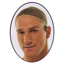 Mens Beige Nude Fishnet Net Wig Cap Hair Beige Professional Costume Accessory
