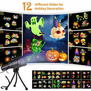 LED Halloween Projector Lights Moving Laser Christmas Xmas Party Lamp Outdoor