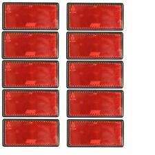 Red Large Rear Reflector 10 Pack Trailer Fence Gate Post SelfAdhesive TR212