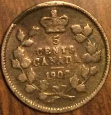 1902 CANADA SILVER 5 CENT