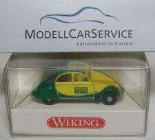 """Wiking Sondermodell: CITROEN 2CV Charleston """" MANN Filtro """", Verde/Giallo"""