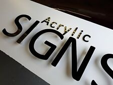 3mm floating acrylic letters, complete  with locators & template ready to fit!