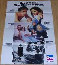 KEY VIDEO 1980s ORIGINAL DS VHS MOVIE POSTER RAZOR'S EDGE CHARLES BRONSON ACTION
