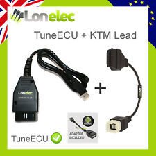 TUNE ECU DIAGNOSTIC CABLE LEAD + ADAPTOR - REMAP YOUR KTM BIKE 690 990 1190