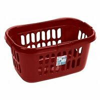Wham High Grade Plastic Hipster Style Washing Linen Laundry Basket (Chilli Red)