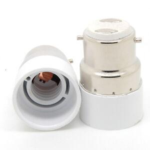 B22 to E14 Base LED Halogen CFL Light Bulb Lamp Adapter Converter Holder New