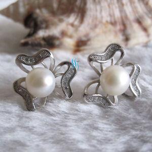 7.5-8.0mm Freshwater Pearl Earrings Stud Earrings D10H UK——MORE COLORS
