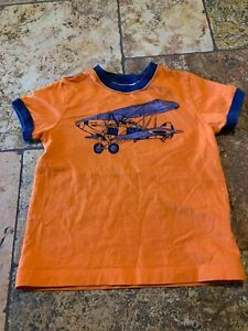 Size 4 100cm Hanna Andersson Orange Airplane Shirt