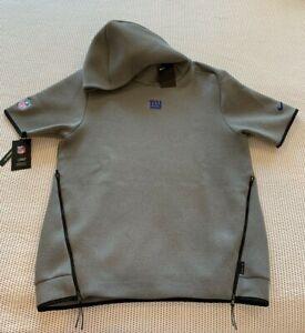 Nike NY Giants NFL On Field Size Medium Short Sleeve Hoodie Grey AR6099-021 $150