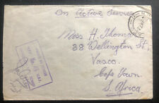 1940 British Army Field post OAS Cover To Capetown South Africa